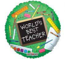 worlds best teacher balloon