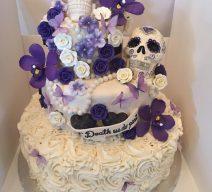 Custom Wedding Cake with sugar work