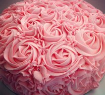 Pink Everything Roses Cake 9""