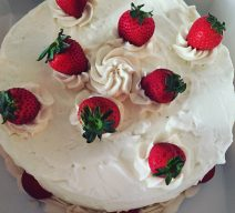 Fresh Strawberries and Cream Cake