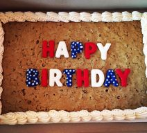 Cookie Cake Candy Red White Blue Letters