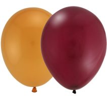 Burgundy and Gold Latex Balloons