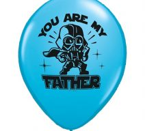 You Are My Father Blue Latex Balloons