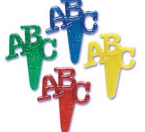 ABC Cupcake Toppers