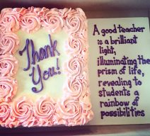 Thank You Teacher Cake with Poem