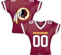 Redskin jersey mylar