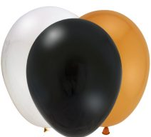 black-gold-silver-latex-balloons