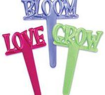 Bloom Love Grow Cupcake Toppers