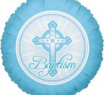 Blue Cross Baptism Balloon
