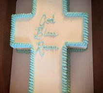 Smooth Customizeable Cross Cake