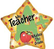 My teacher makes the grade balloon