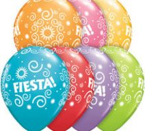 Fiesta Assorted Color Latex Balloons