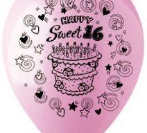 Happy Sweet 16 Latex Balloons