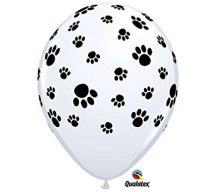 Pawprint latex balloons