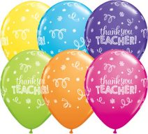Thank You Teacher Latex Balloons