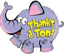 Thanks A Ton Jumbo Balloon