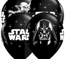 Star Wars Black White Latex Balloons