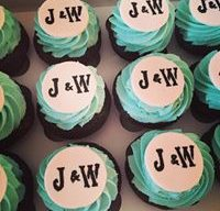 Personalized Wedding Cupcakes