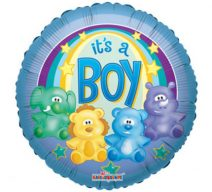 It's A Boy Animals mylar balloon