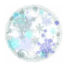 Snowflakes winter mylar balloon