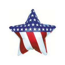 patriotic USA mylar balloon