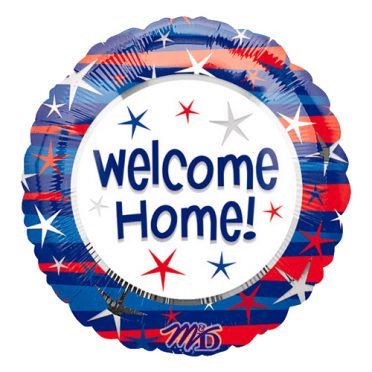 Welcome Home patriotic flag balloon