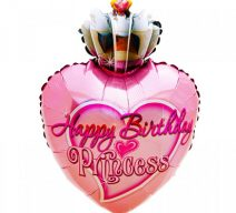 Happy Birthday Princess Mylar Balloon
