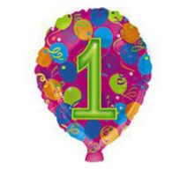 unisex numbered balloons