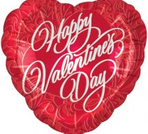 Happy Valentines Day Classic Heart Shape Mylar