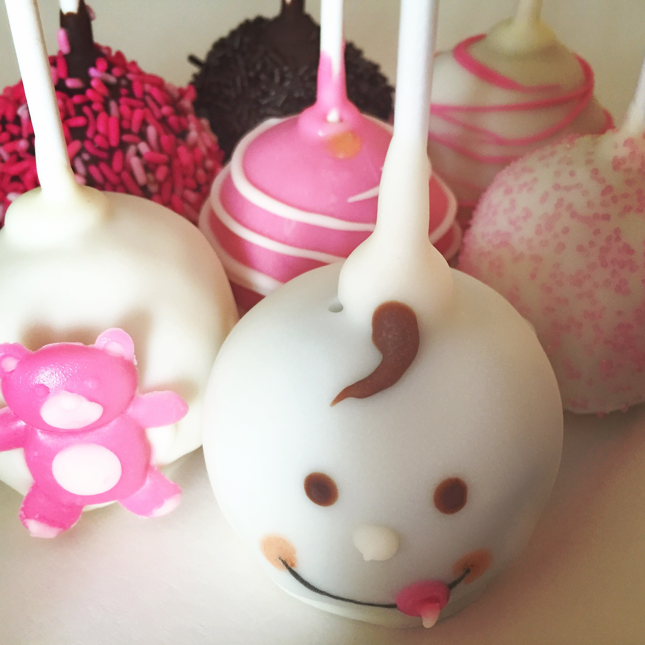 Baby Girl Cake Pop Assortment The Cupcake Delivers