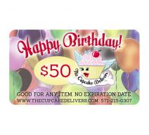 Happy Birthday E Gift Certificate