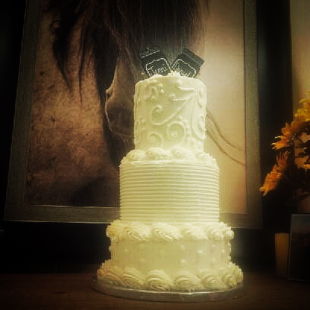 3 Tier Custom Wedding Cake – The Cupcake Delivers