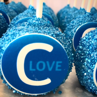 cake pops with logo