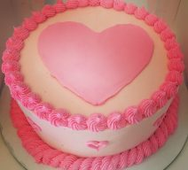 Perfectly Pink Heart Cake