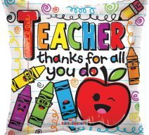 Order a Teacher balloon online for delivery! We're located in Fairfax, Virginia and deliver our cupcakes, balloons in Northern VA and the DC area: Aldie, Annandale, Arlington, Alexandria, Ashburn, Bristow, Burke, Chantilly, Clifton, Centreville, Fairfax, Fairfax Station, Falls Church, Gainesville, Great Falls, Haymarket, Herndon, Manassas, Mclean, Oakton, Reston, Springfield, Sterling, South Riding, Tysons, Vienna and Washington DC