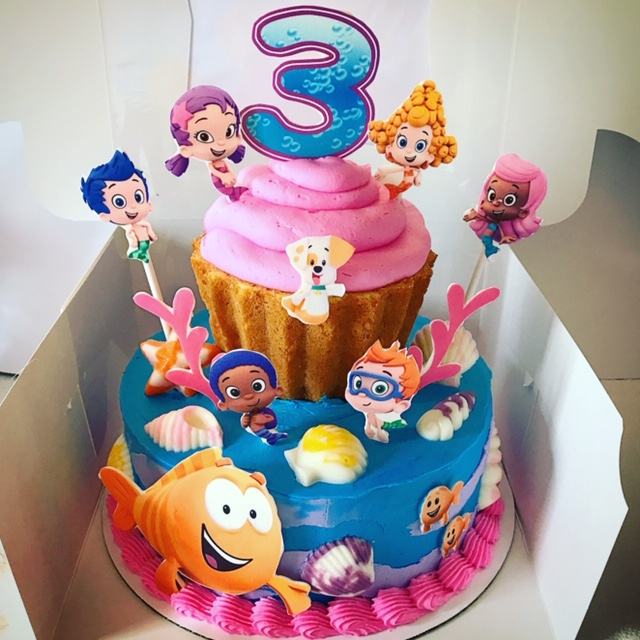 Excellent Bubble Guppies Cake The Cupcake Delivers Funny Birthday Cards Online Hetedamsfinfo