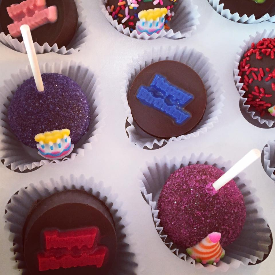 Happy Birthday Cake Pops And Oreos Assortment The Cupcake Delivers