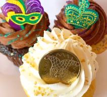 mardi gras cupcake delivery