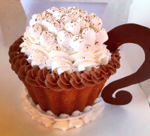 Giant Peppermint Hot Chocolate Cupcake