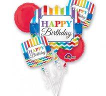 Happy Birthday Rainbow Balloon Bouquet