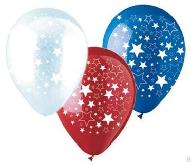 patriotic balloons red white and blue