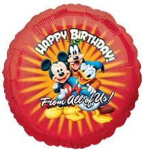 Mickey And Friends Happy Birthday From All Of Us Balloon