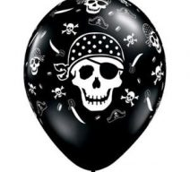 black pirate skull latex balloons