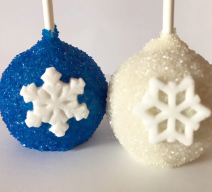 let it snow cake pops