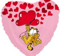 Garfield and Pooky Hearts Balloon