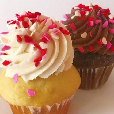 Valentine Sprinkle Cupcake