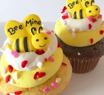 Bee Mine Valentine Cupcakes
