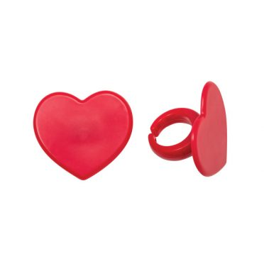 Red Heart Cupcake Rings