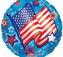 USA waving flag balloon