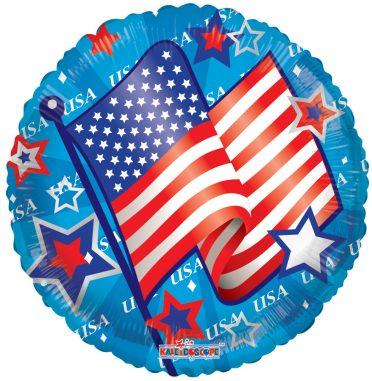 USA waving flag balloon